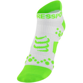 Compressport Racing V2 Run Low Socks White/Green